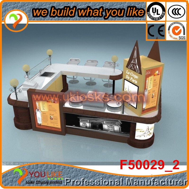 Pizza kiosk manufacturer direct sale pizza food kiosks mall French