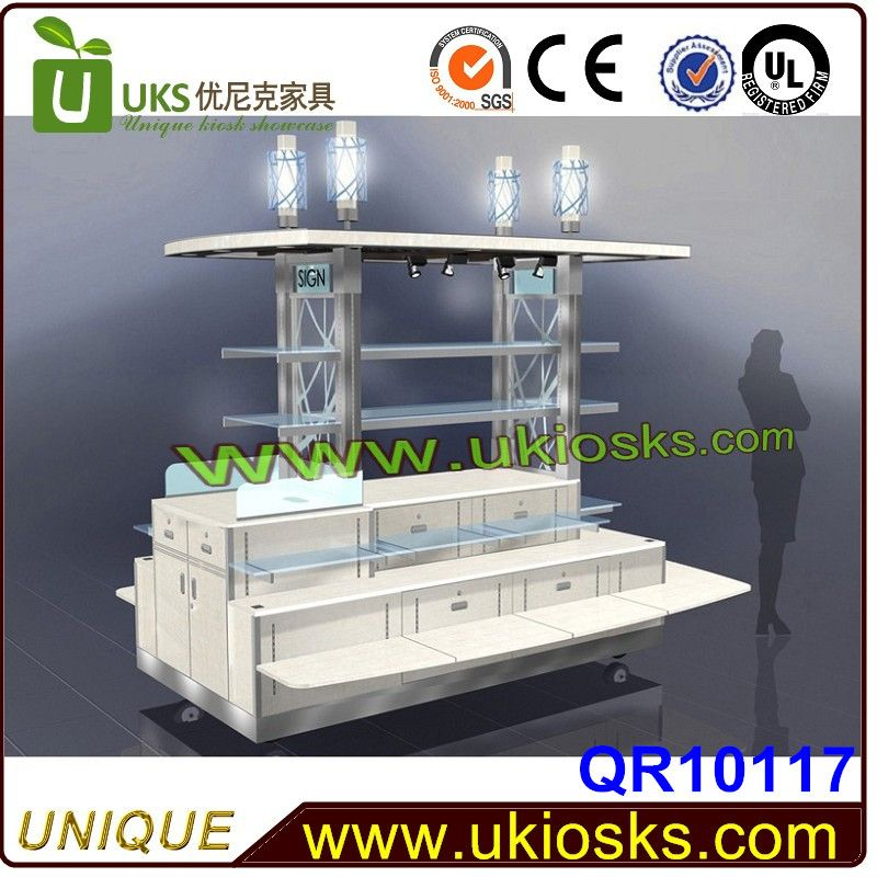 cosmetic display kiosk with wheels,candy kiosk,candy cart