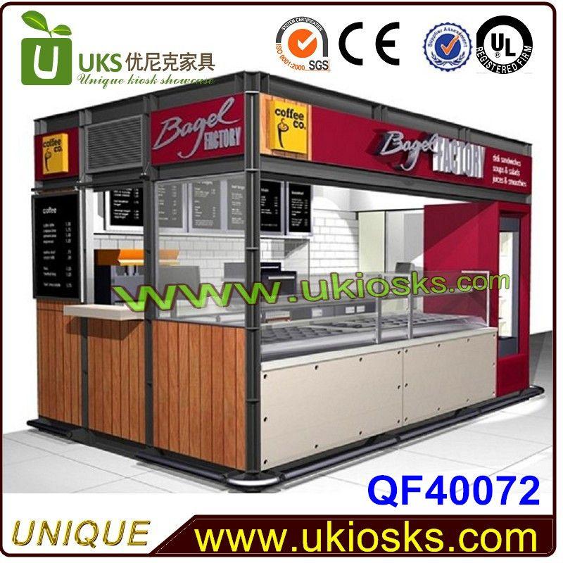 Beauty outdoor food kiosk design modern for sale - Mall Kiosk