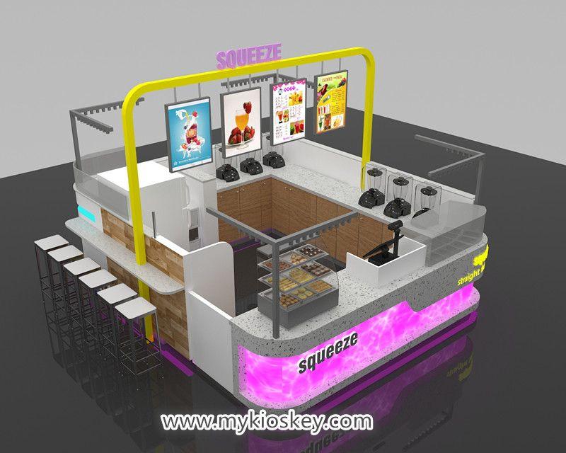 Shopping mall food kiosk design indoor coffee kiosk for sale