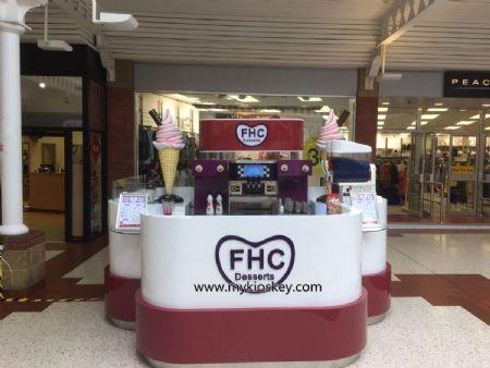 UK ice cream store shopping mall kiosk opened