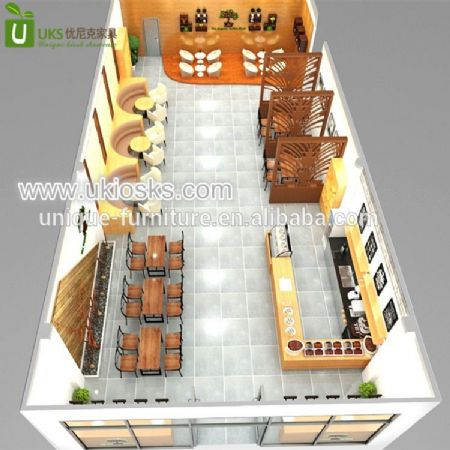 Coffee shop interior design from China factory