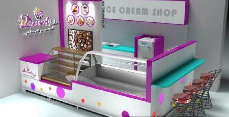 how to build a mall food ice cream kiosk ?