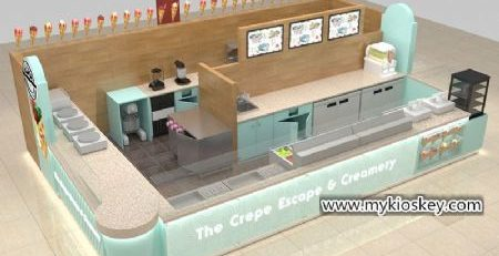 Australia popular commercial crepe kiosk for shopping mall