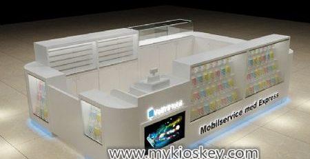 Elegance white mobile phone display kiosk export Sweden