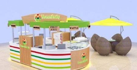 Best selling Multifunctional commercial used food juice bar kiosk design for share