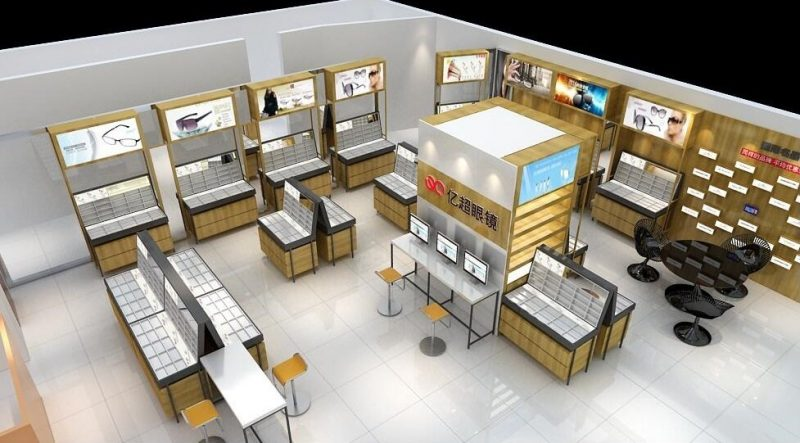 Sunglass Display Optical Shop Furniture With Interior Design Mall Kiosk